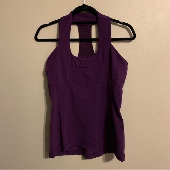Lululemon dark purple tank top